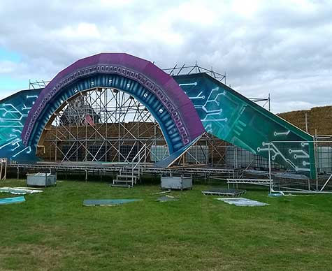 Layher structure for festival stage.