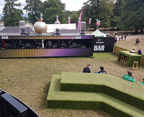 Festival bar area for Strongbow.