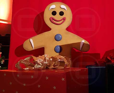 Gingerbread man stage prop