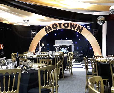 'Motown' stage arch prop