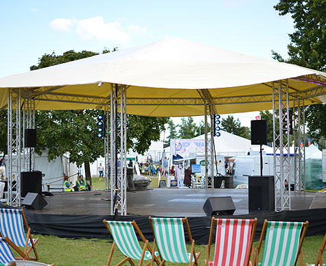 10m bandstand stage