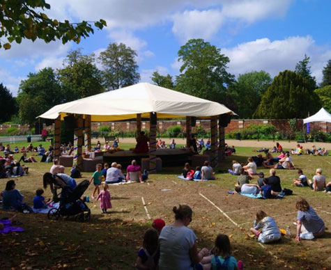 10m bandstand as a stage 'in the round' at Hampton Court.