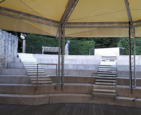 10m Bandstand at Waterperry open-air theatre.