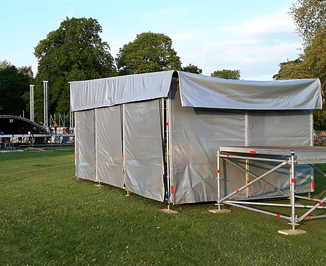 FOH 4m x 4m structure for festival stage.
