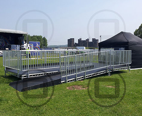 Customised viewing platform for Blue Peter Big Olympic Tour