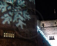 Christmas lighting effects, Oxford Castle