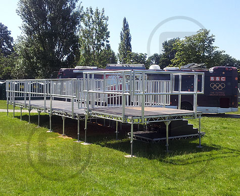 Combined viewing platform & media platform for Olympic Torch Relay event.