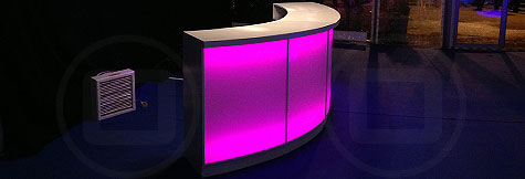 LED backlit bars: