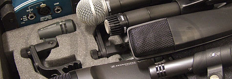 Microphones and DIs available for dry hire