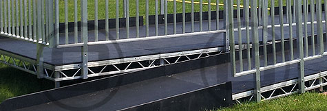 Access and stage ramps available for hire