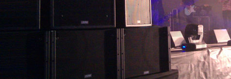 Active & passive speakers, FOH systems, stands and flying accessories