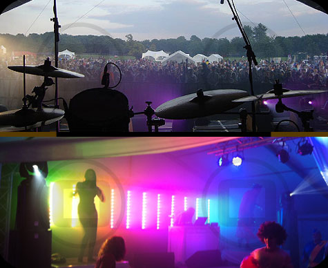 From mainstage, Cowley Fiesta, Oxford and Private Party, Oxfordshire
