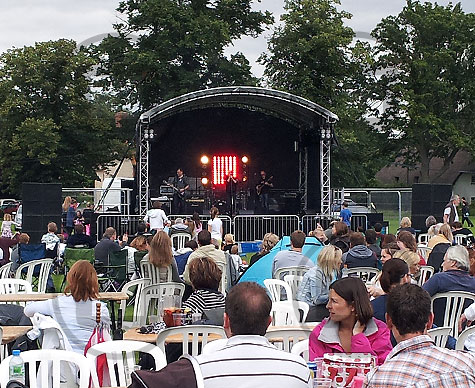 Outdoor stage at Warborough Festival