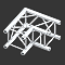 Milos 290mm Quatro truss 2 way corner 90&deg