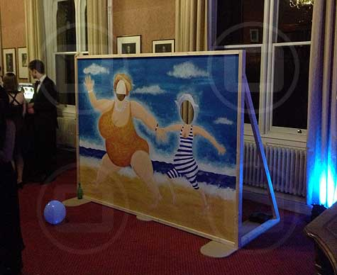 Bespoke sea-themed photoboard